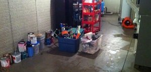 Warehouse Flood Cleanup In Progress